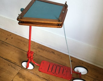 Vintage Scooter Square Side Table