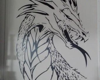 Dragon Head Vinyl Decal
