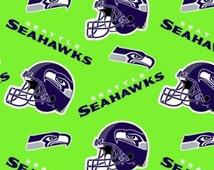 Seattle Seahawks Allover Fleece Style# NFL SEA-6711 By The YARD