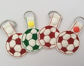 Football Keyfob, key holder, key chain, keyring, key ring