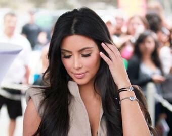 Silver and Gold Evil Eye Bracelet as seen on Kim Kardashian
