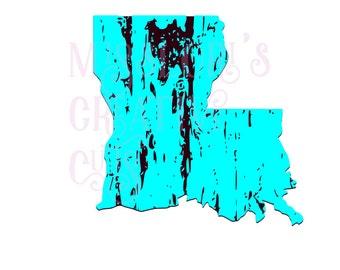 Louisiana  distressed  SVG Cut file  Cricut explore filescrapbook vinyl decal wood sign cricut cameo Commercial use