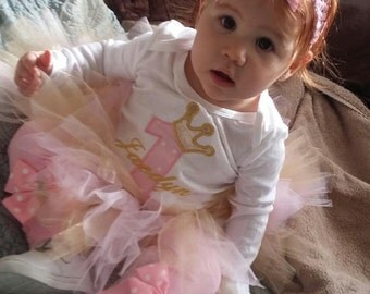 princess tutu with matching headband and leggings.