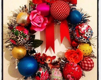 32cm Christmas Kitsch Wreath - Made to Order