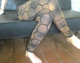 Honey comb bleached leggings