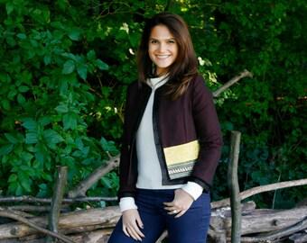 Tailored jacket, Burgundy jacket by Hanieh Fashion