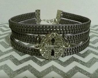 Light purple Zipper Bracelet