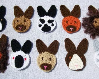 Rabbit Hair Clips, Rabbit Pins, Crochet Hair Clips, Bunny Rabbit Breeds, Rabbit Shows, Rabbit Aprons, ARBA Rabbit Breeders, Lionhead Rabbit