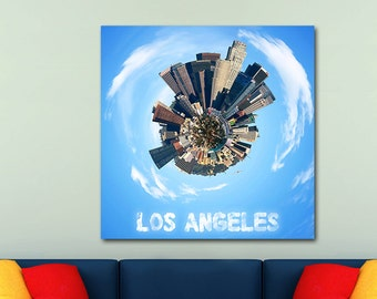 Los Angeles City Planets Canvas Print