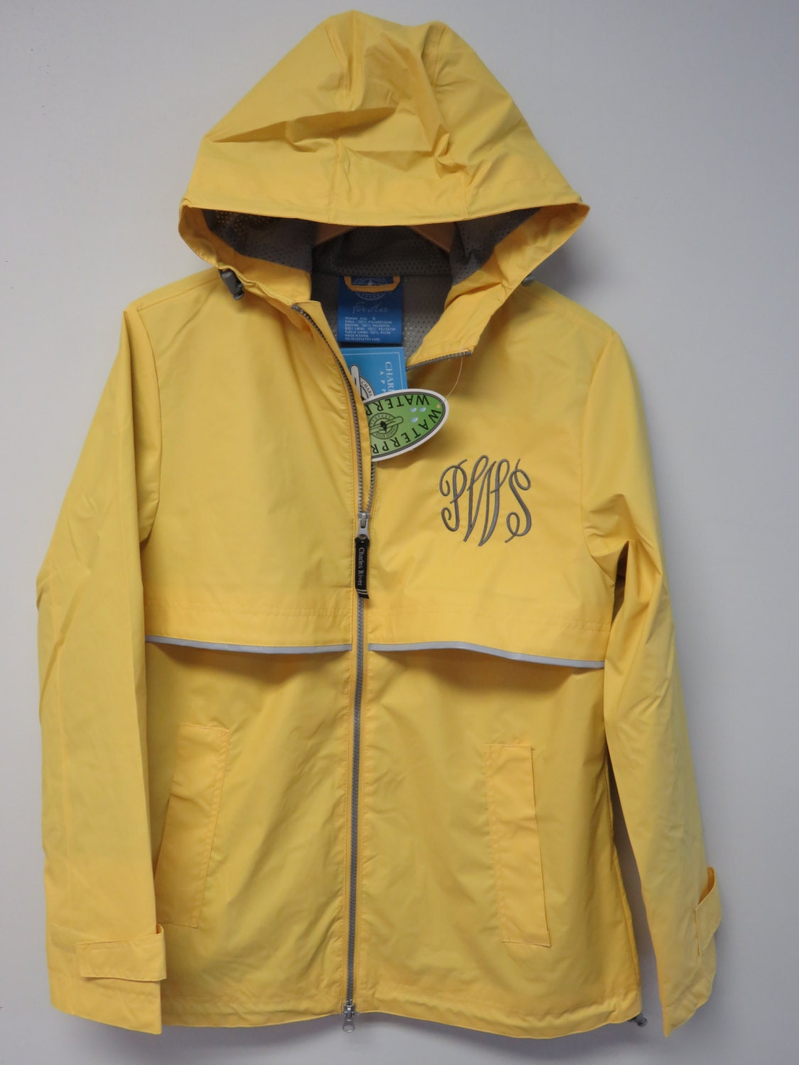 monogrammed charles river rain jacket monogram raincoat