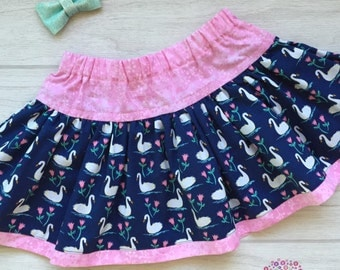 Twirly Skirt - Swans