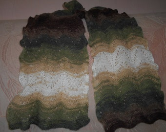 140 Knitted scarf a soft, wool,mohair,acryl, lace, hand knitted scarf