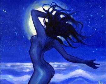 Moon Dancer: Canvas Print of Original Acrylic Painting on Canvas