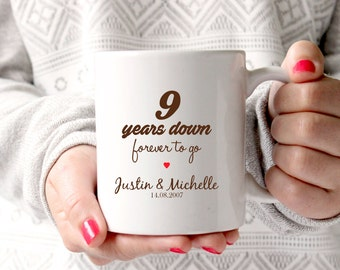 9th Anniversary Gift Wedding 9 Years Marriage Personalised