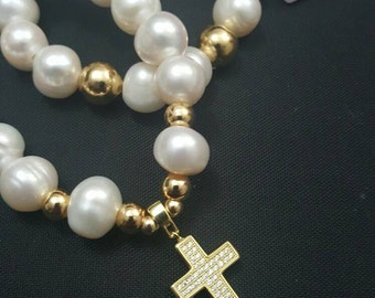 Pulseras De perla natural  Natural pearl bracelet