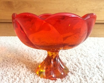 Vintage Viking glass candy dish