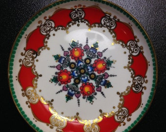 Vintage Austrian Hand Painted Ring Dish