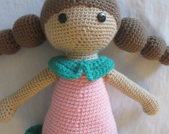 Super cute amigurumi crochet doll / stuffed doll / crochet rag doll