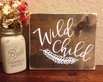 wild child | nursery sign | rustic nursery decor | nursery decor |