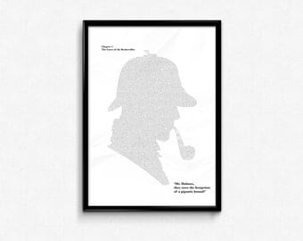 Sherlock - The Hound of the Baskervilles Poster - Printable - Digital Poster