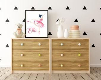 Little Ballerina - Personalised Print