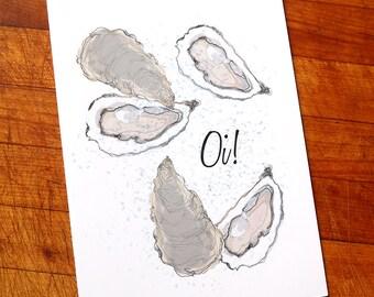 Oi! Oyster Birthday Card