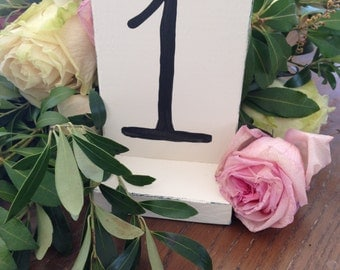 Antique White Table Numbers Rustic Vintage Wedding