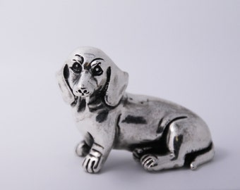 Dachshund Dog, Miniature Dachshund, Dachshund figurine, Dachshund sculpture, Silver Dachshund, taksa dog, Dogs Figurines, Dachshund Gift