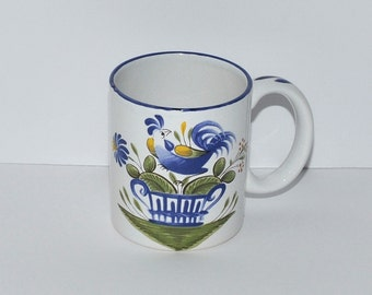 French Pottery Luneville France Rooster Mug