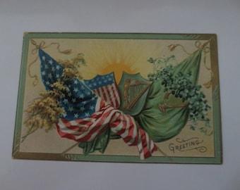 1908 St patricks day postcard