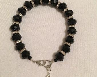 Sparkly black beaded bracelet