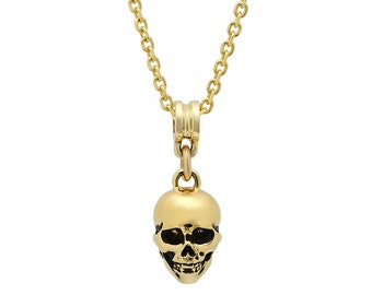 Skull Pendant 18k Yellow Gold,solid gold,hand crafted, 112