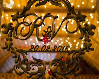 wooden Monogram wedding decor