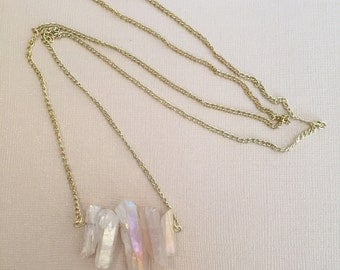 Luster Stone Long Necklace