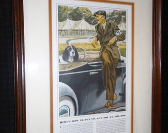 Framed Reproduction of Esquire Magazine Page