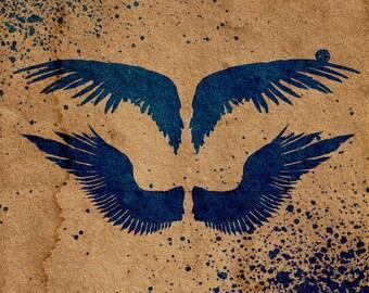 Wings Stencil