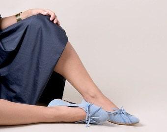 Blue shoes, Blue ballerina flats, Leather shoes, Handmade shoes, Flat shoes, Party shoes, Ballet flats, Women's shoes, Ballerina shoes