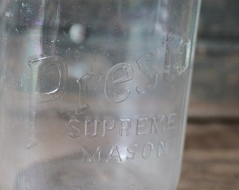 Presto Supreme Mason glass jar