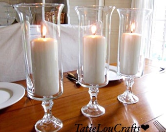 """SET OF (6) 13"""" Candle Holders,Wedding Centerpieces,Tall Centerpieces,Tall Vases, Flower Vases, Baptism Vases. Tall wedding Vase."""