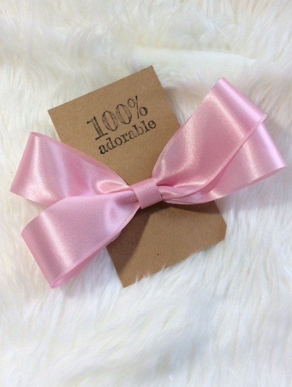 Pink Hairbow, Large Hairbow, Hairbow, Simple Hairbow, Baby Bow