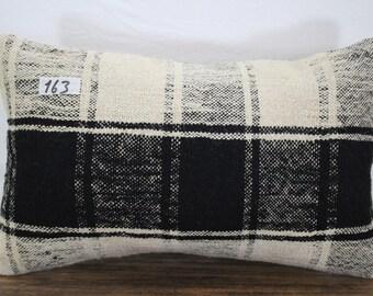 """Turkish Kilim Pillow Cover 12""""x20"""" Lumbar Pillow Sofa Pillow Lumbar Cushion Cover Bohemian Pillow Case"""