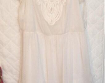 Cream Chiffon Dress