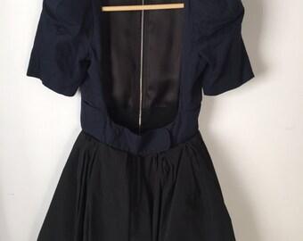 Carven Open Front Mini Dress