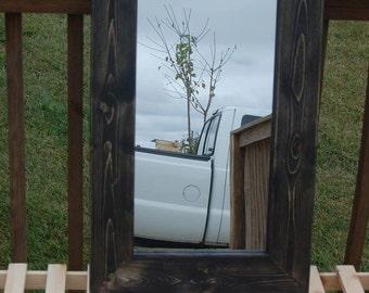 "Rustic Mirror 24"" x 36"""