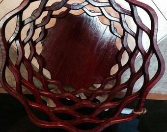 Fruit Bowl, Wooden Fruit Bowl, Wood Fruit Bowl, Fruit Bowl, Bread Bowl, Wood Bread Bowl, Purple Heart Wobble Bowl #6