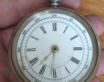 Huge antique silver Swiss pocket watch 1882-1934