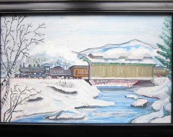 A Beautifully Detailed A.D. ATKINS Oil On Masonite Painting Of A Bygone Era