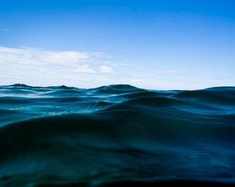 The Blue  - Ocean Photo Fine Art Hahnemühle Print - art prints, home decor, wall art, wall decor, digital prints.