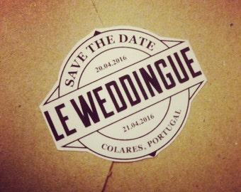 30 Stickers MARIAGE personnalisés (autocollants, étiquettes enveloppes,  faire-par, invitation, personnalisable)