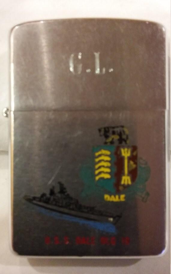 Vintage 1969 Vietnam Era Zippo Lighter. U.S.S. Dale DLG 19